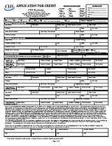CHS Credit Application
